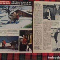 Coleccionismo de Revistas y Periódicos: RECORTE CURD JURGENS FOTOS, ARTÍCULO ACTOR EUROPEO. Lote 180291792