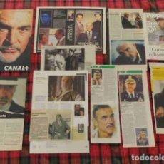 Coleccionismo de Revistas y Periódicos: RECORTE SEAN CONNERY FOTOS, ARTÍCULO ACTOR EUROPEO. Lote 180293150