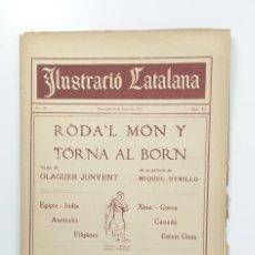 Coleccionismo de Revistas y Periódicos: REVISTA SETMANAL ILUSTRACIÓ CATALANA Nº 396 - 8 DE ENERO 1911. Lote 180390551