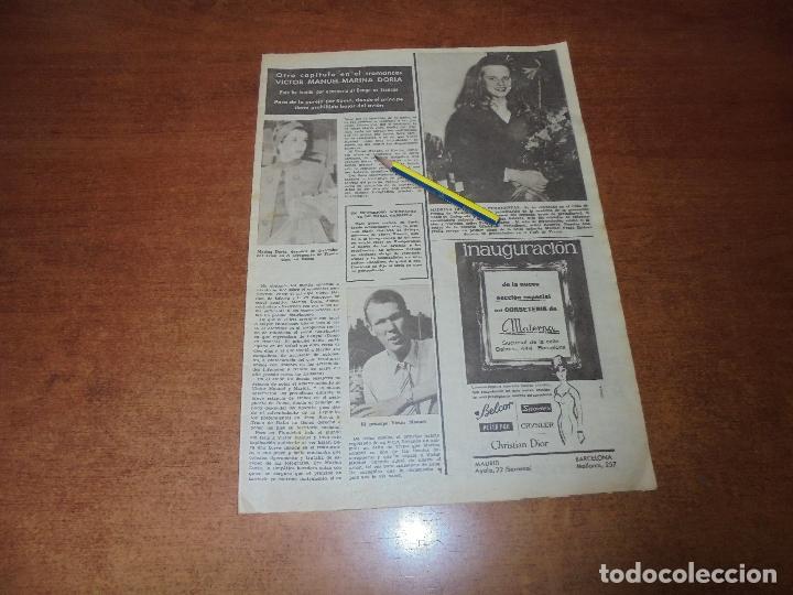 Coleccionismo de Revistas y Periódicos: CLIPPING 1963: SYLVIA CASABLANCAS. HIJA DE FRAGA MADRINA PERIODISTAS. MARINA DORIA Y VICTOR MANUEL - Foto 2 - 180394883
