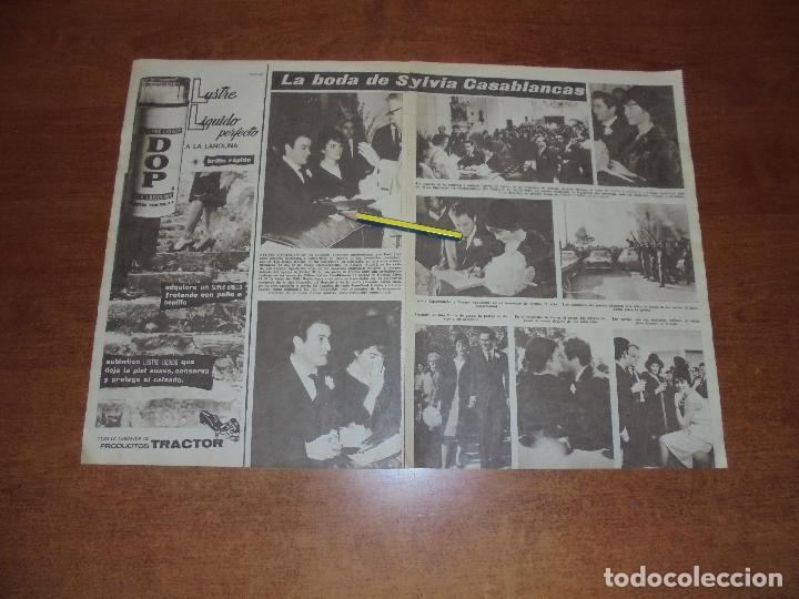 CLIPPING 1963: SYLVIA CASABLANCAS. HIJA DE FRAGA MADRINA PERIODISTAS. MARINA DORIA Y VICTOR MANUEL (Coleccionismo - Revistas y Periódicos Modernos (a partir de 1.940) - Otros)