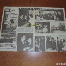 Coleccionismo de Revistas y Periódicos: CLIPPING 1963: SYLVIA CASABLANCAS. HIJA DE FRAGA MADRINA PERIODISTAS. MARINA DORIA Y VICTOR MANUEL. Lote 180394883