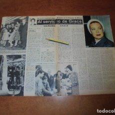 Coleccionismo de Revistas y Periódicos: CLIPPING 1963: REVELACIONES DAMA DE HONOR PRINCESA GRACE DE MÓNACO VIII. MAMÁ GRACE.. Lote 180396040
