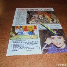 Coleccionismo de Revistas y Periódicos: CLIPPING 1986: ALASKA, LA BOLA DE CRISTAL. LOS FRAGUEL. DAVID EL GNOMO. . Lote 180399261