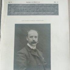 Coleccionismo de Revistas y Periódicos: ILUSTRACIÓ CATALANA Nº102 1905 TRAMVIA DE VALLVIDRERA. Lote 180401536