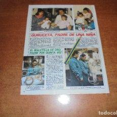 Coleccionismo de Revistas y Periódicos: CLIPPING 1986: EMILIO GURUCETA (ÁRBITRO) - MIGUEL ABELLÁN, EL MALETILLA DE ORO (TORERO). Lote 180401765