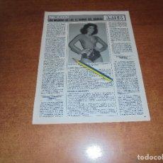 Coleccionismo de Revistas y Periódicos: CLIPPING 1986: NORMA DUVAL. TROFEOS VII CARRERA POPULAR IBERIA. . Lote 180402368