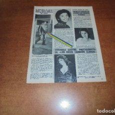 Coleccionismo de Revistas y Periódicos: CLIPPING 1986: VERÓNICA CASTRO, LOS RICOS TAMBIÉN LLORAN. MARQUÉS DE VILLAVERDE. . Lote 180402493
