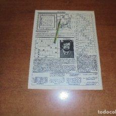 Coleccionismo de Revistas y Periódicos: CLIPPING 1986: CRUCIGRAMA TV-GRAMA DEDICADO A CHICHO IBAÑEZ SERRADOR DEL UN, DOS, TRES.... Lote 180402781