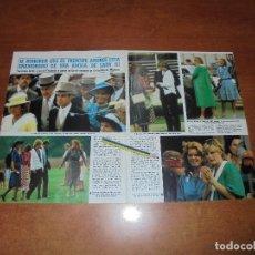 Coleccionismo de Revistas y Periódicos: CLIPPING 1986: LADY DIANA. SARAH FERGUSON - URSULA ANDRESS - AMPARO MUÑOZ. SERRAT - SEAT MÁLAGA. Lote 180430110