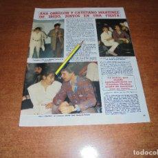 Coleccionismo de Revistas y Periódicos: CLIPPING 1986: ANA OBREGÓN Y CAYETANO. SOFÍA DE HABSBURGO Y PHILIPE JUNOT - MARIA JESÚS LLORENTE.. Lote 180430231