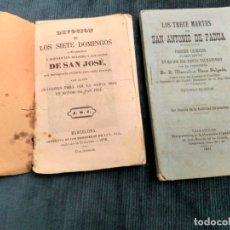 Coleccionismo de Revistas y Periódicos: DEVOCIÓN A LOS 7 DOMINGOS DE S. JOSÉ,1878 Y LOS TRECE MARTES DE SAN ANTONIO DE PADUA 1897. Lote 180464851