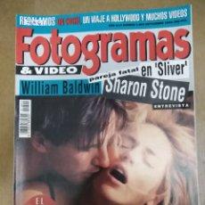 Collectionnisme de Revues et Journaux: 26661 - REVISTA FOTOGRAMAS - PORT WILLIAM BALDWIN SHARON STONE - Nº 1800 - AÑO 1993 - (SIN VIDEO) . Lote 180572592