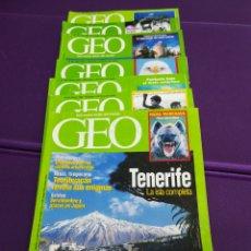 Coleccionismo de Revistas y Periódicos: LOTE DE 7 REVISTAS GEO 120 153 157 160 162 168 172. Lote 180858507
