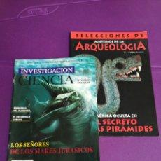Coleccionismo de Revistas y Periódicos: LOTE SELECCIONES DE MISTERIOS DE LA ARQUEOLOGÍA. INVESTIGACIÓN Y CIENCIA.. Lote 180859798