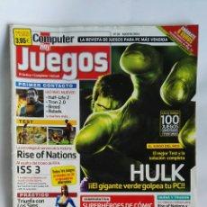 Coleccionismo de Revistas y Periódicos: REVISTA COMPUTER HOY N° 28 HULK. Lote 180864018