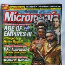 Coleccionismo de Revistas y Periódicos: MICROMANIA N 121 AGE OF EMPIRE III. Lote 180864730