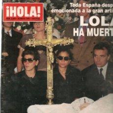 Coleccionismo de Revistas y Periódicos: HOLA. Nº 2650. 25 MAYO 1995. ¡¡LOLA HA MUERTO.!! (P/B78). Lote 180871492