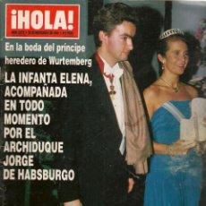 Coleccionismo de Revistas y Periódicos: HOLA. Nº 2572. 25 NOVBRE. 1993. LA INFANTA ELENA, EL CONDE LEQUIO. ANA OBREGÓN. (P/B78). Lote 180871886