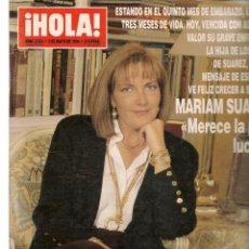Coleccionismo de Revistas y Periódicos: HOLA. Nº 2595. 5 MAYO 1994. MARIAM SUAREZ. MARTA SANCHEZ. (P/B78). Lote 180872077