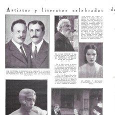 Coleccionismo de Revistas y Periódicos: 1930 HOJA REV. SERAFÍN Y JOAQUÍN ÁLVAREZ QUINTERO, PINTOR SANTIAGO RUSIÑOL COMPOSITORA GENOVEVA PUIG. Lote 180875271