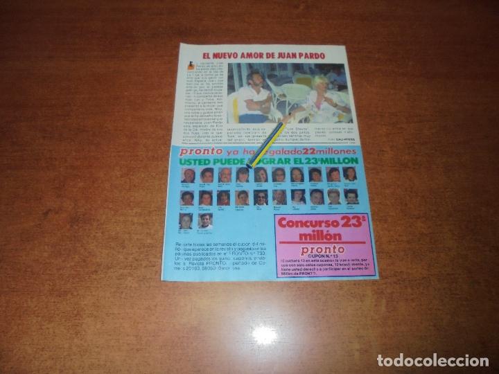 CLIPPING 1986: JUAN PARDO (Coleccionismo - Revistas y Periódicos Modernos (a partir de 1.940) - Otros)