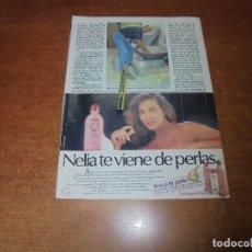 Coleccionismo de Revistas y Periódicos: CLIPPING 1986: PUBLICIDAD NELIA CON NORMA DUVAL.. Lote 180893937