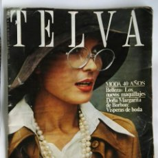 Coleccionismo de Revistas y Periódicos: REVISTA TELVA OCTUBRE 1972. Lote 180903580