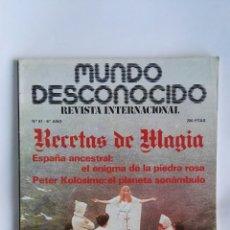Coleccionismo de Revistas y Periódicos: REVISTA MUNDO DESCONOCIDO N° 61 RECETAS DE MAGIA. Lote 180903777