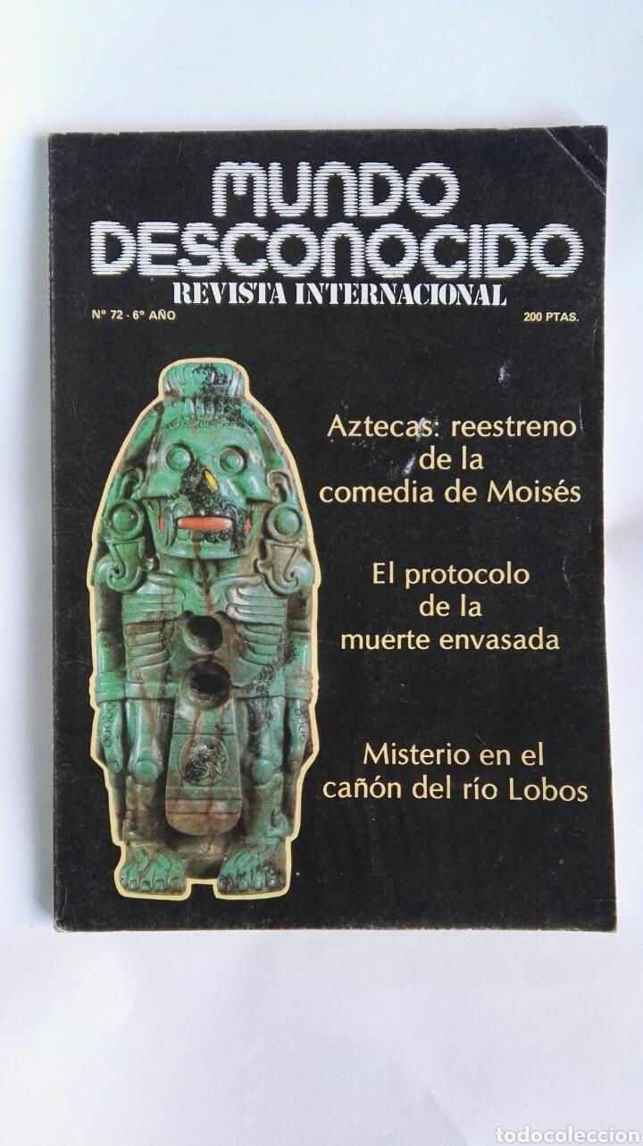 REVISTA MUNDO DESCONOCIDO N° 72 AZTECAS (Coleccionismo - Revistas y Periódicos Modernos (a partir de 1.940) - Otros)