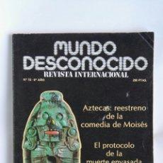 Coleccionismo de Revistas y Periódicos: REVISTA MUNDO DESCONOCIDO N° 72 AZTECAS. Lote 180903843