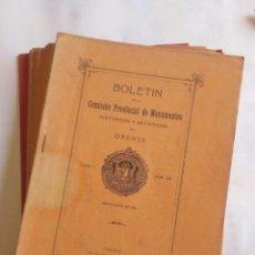 Coleccionismo de Revistas y Periódicos: 11 BOLETINES COMISIÓN PROVINCIAL DE MONUMENTOS DE ORENSE. TOMO V, 1915 - 18. GALICIA.. Lote 180935252
