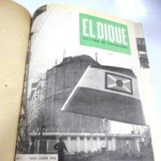 Coleccionismo de Revistas y Periódicos: BOLETIN INTERIOR INFORMATIVO EL DIQUE. AÑO 1956. COMPLETO. DEL Nº 1 AL 12. CADIZ. MATAGORDA. VER. Lote 180991730