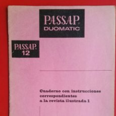 Coleccionismo de Revistas y Periódicos: PASSAP DUOMATIC CUADERNO CON INSTRUCCIONES. Lote 181075523