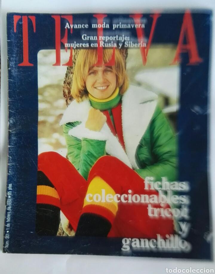 REVISTA TELVA FEBRERO 1972 TRICOT GANCHILLO (Coleccionismo - Revistas y Periódicos Modernos (a partir de 1.940) - Otros)