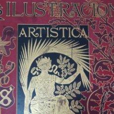 Coleccionismo de Revistas y Periódicos: LA ILUSTRACIÓN ARTÍSTICA AÑO 1914 COMPLETO ESPECTACULAR ENCUADERNACIÓN MODERNISTA/ART DECO. Lote 181129213
