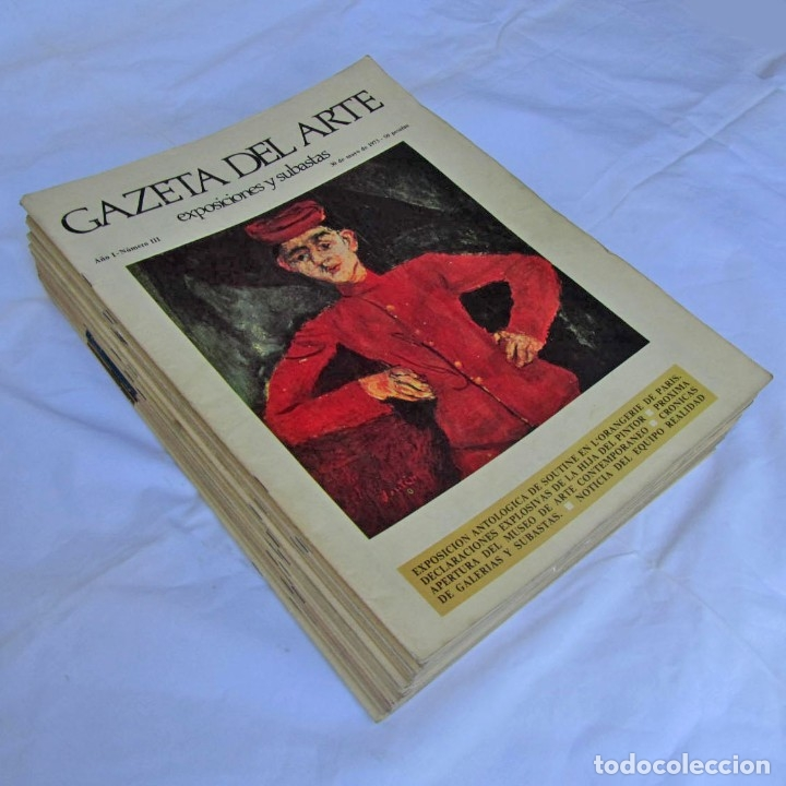 33 REVISTAS GAZETA DEL ARTE, AÑOS 70 (Coleccionismo - Revistas y Periódicos Modernos (a partir de 1.940) - Otros)