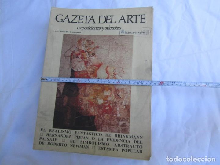 Coleccionismo de Revistas y Periódicos: 33 revistas Gazeta del Arte, años 70 - Foto 2 - 181154053
