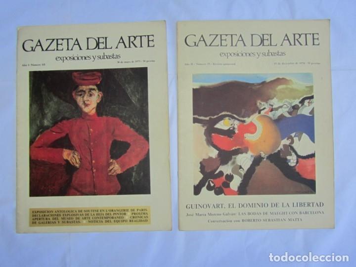 Coleccionismo de Revistas y Periódicos: 33 revistas Gazeta del Arte, años 70 - Foto 3 - 181154053