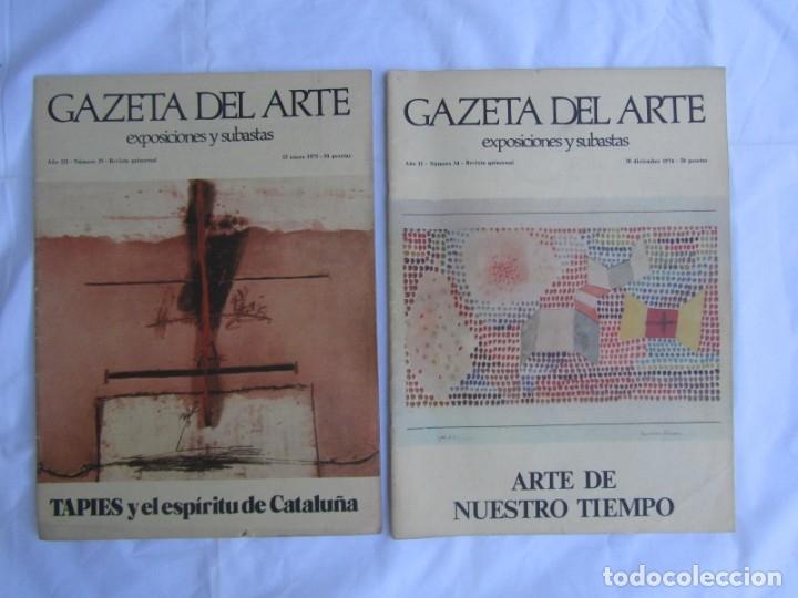 Coleccionismo de Revistas y Periódicos: 33 revistas Gazeta del Arte, años 70 - Foto 5 - 181154053