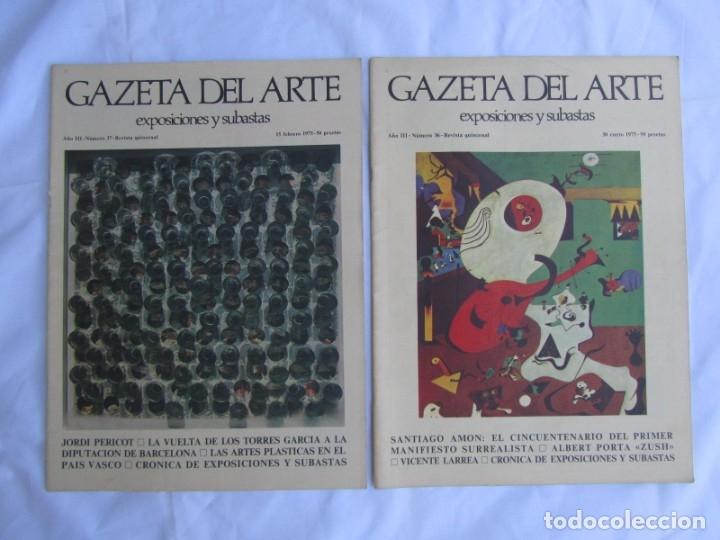 Coleccionismo de Revistas y Periódicos: 33 revistas Gazeta del Arte, años 70 - Foto 6 - 181154053