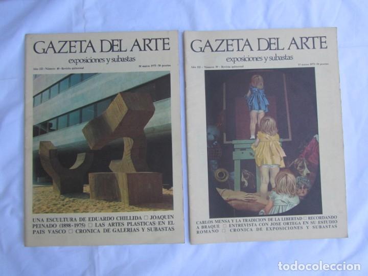 Coleccionismo de Revistas y Periódicos: 33 revistas Gazeta del Arte, años 70 - Foto 7 - 181154053