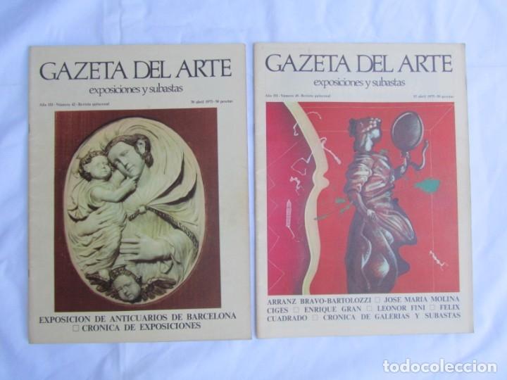 Coleccionismo de Revistas y Periódicos: 33 revistas Gazeta del Arte, años 70 - Foto 8 - 181154053