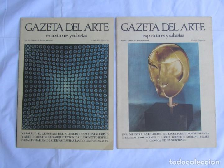 Coleccionismo de Revistas y Periódicos: 33 revistas Gazeta del Arte, años 70 - Foto 9 - 181154053