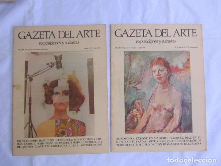 Coleccionismo de Revistas y Periódicos: 33 revistas Gazeta del Arte, años 70 - Foto 10 - 181154053