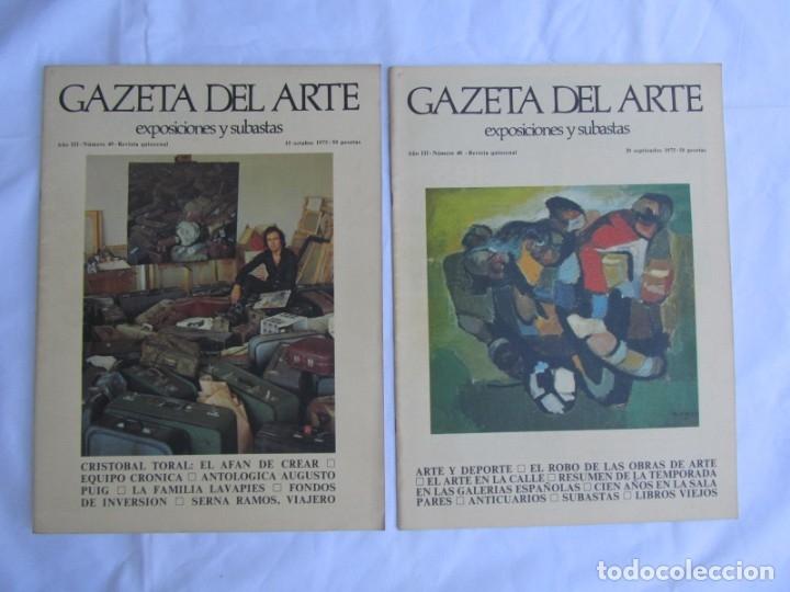 Coleccionismo de Revistas y Periódicos: 33 revistas Gazeta del Arte, años 70 - Foto 11 - 181154053