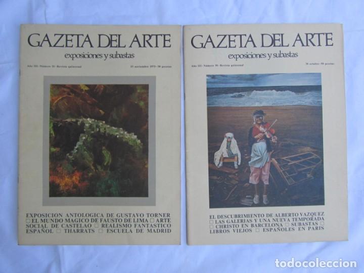 Coleccionismo de Revistas y Periódicos: 33 revistas Gazeta del Arte, años 70 - Foto 12 - 181154053