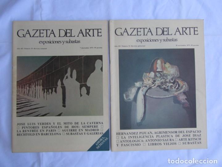 Coleccionismo de Revistas y Periódicos: 33 revistas Gazeta del Arte, años 70 - Foto 13 - 181154053