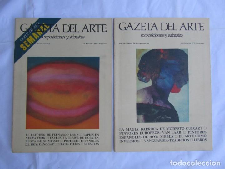 Coleccionismo de Revistas y Periódicos: 33 revistas Gazeta del Arte, años 70 - Foto 14 - 181154053