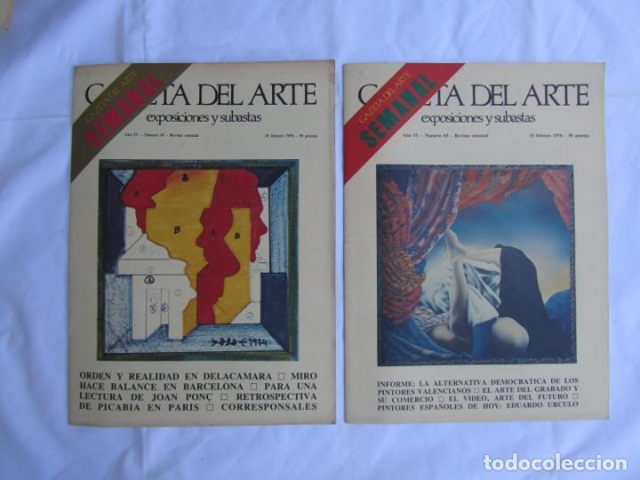 Coleccionismo de Revistas y Periódicos: 33 revistas Gazeta del Arte, años 70 - Foto 18 - 181154053
